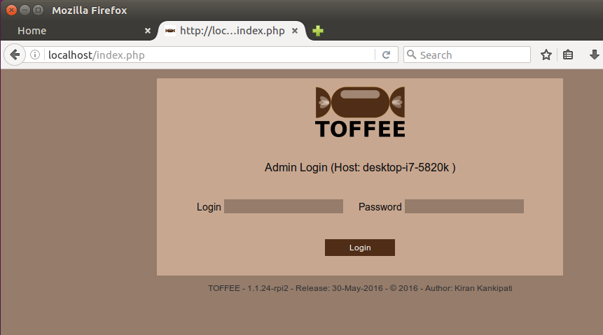 TOFFEE Login