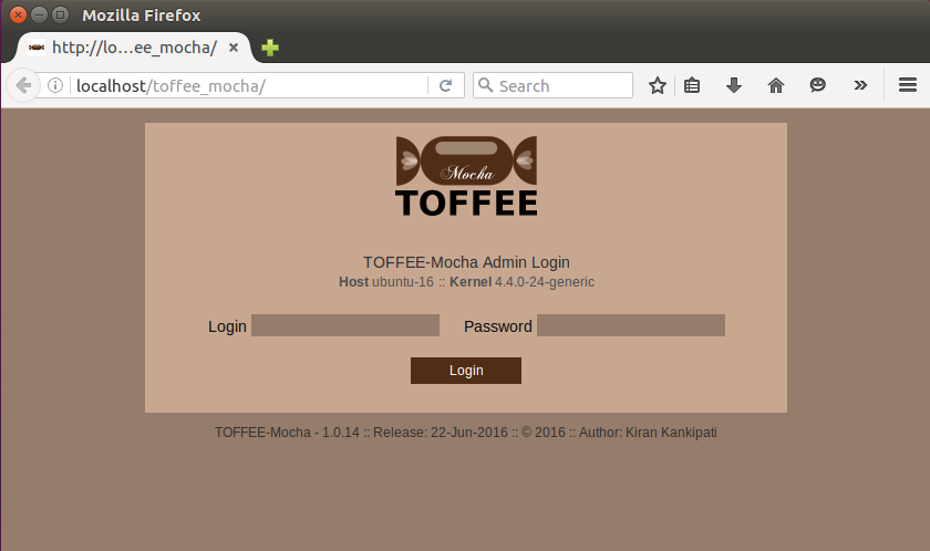 TOFFEE_Mocha login