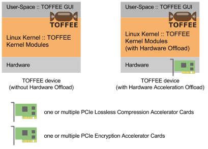TOFFEE Architecture with Compression and Decompression Accelerator Card