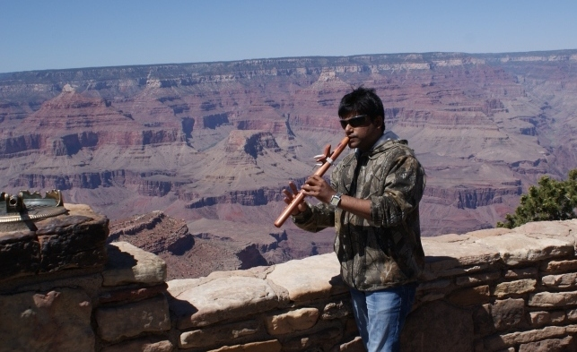 Kiran Kankipati US Grand Canyon Sedona Trip - Native American Flute